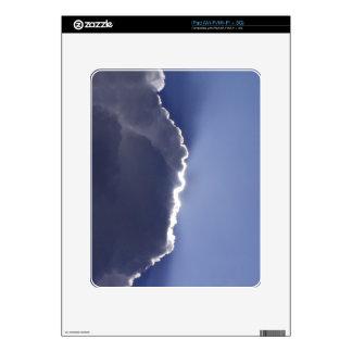 piel del iPad con la foto de la nube con el lado iPad Calcomanías