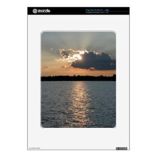 piel del iPad con la foto de la puesta del sol del iPad Calcomanías