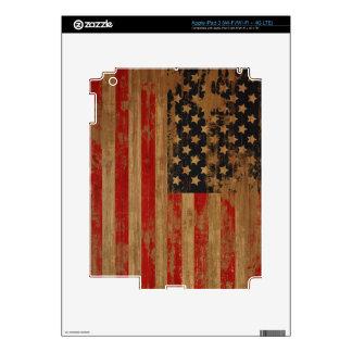 Piel del iPad de la bandera americana del vintage Pegatinas Skins Para iPad 3