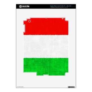 Piel del iPad de la BANDERA de ITALIA Pegatina Skin Para iPad 3