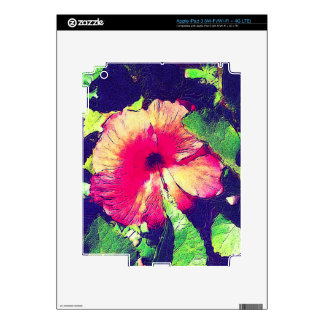Piel del iPad de la FLOR del HIBISCO iPad 3 Skin