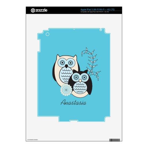 Piel del iPad de los búhos del invierno iPad 3 Pegatina Skin