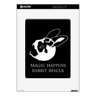 Piel del ipad del conejo del logotipo de MHRR Skins Para iPad
