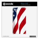 Piel del iphone 4/4S de la bandera americana Skin Para El iPhone 4