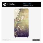 Piel del iPhone 4/4S de la torre Eiffel que eleva Skin Para El iPhone 4S