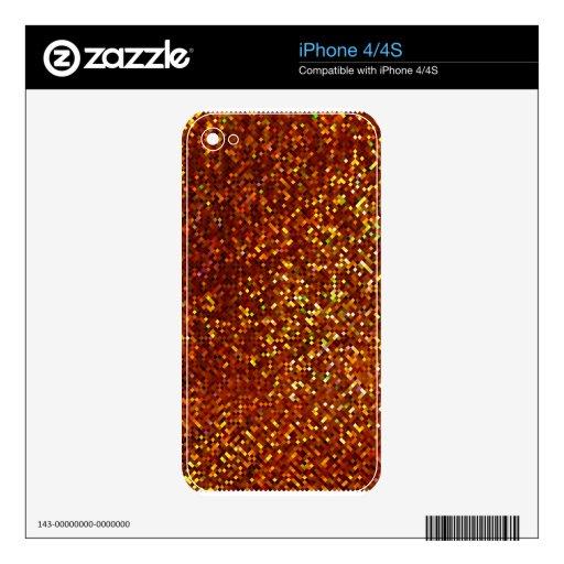 Piel del iPhone 4/4S de las chispas y del brillo Skins Para iPhone 4S