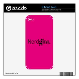 Piel del iPhone 4/4S de Nerdgirl Calcomanía Para iPhone 4