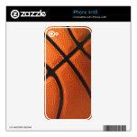 Piel del iPhone 4/4S del baloncesto Calcomanías Para iPhone 4