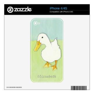 Piel del iPhone 4/4S del beso del pato iPhone 4S Skin