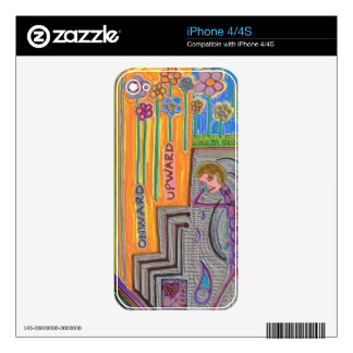 Piel del iPhone 4/4S del flower power Skins Para eliPhone 4