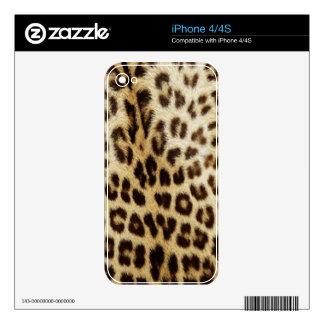 Piel del iPhone 4/4S del leopardo Skin Para El iPhone 4S
