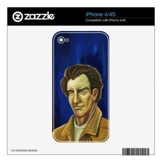 piel del iPhone 4/4S del retrato del hombre Calcomanía Para iPhone 4