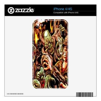 Piel del iPhone 4 de la apocalipsis del zombi Calcomanía Para El iPhone 4