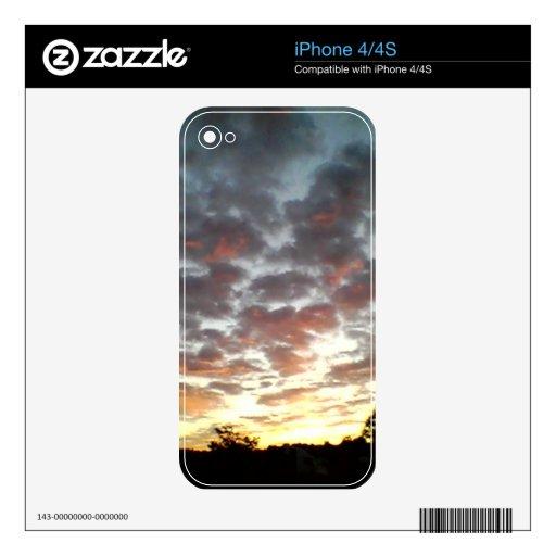 Piel del iPhone 4 de la puesta del sol Skin Para El iPhone 4S