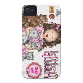 piel del iphone 4 de la reina del gatito iPhone 4 Case-Mate funda