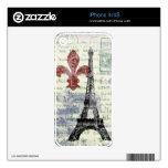 Piel del iPhone 4 de la torre Eiffel Skins Para eliPhone 4S