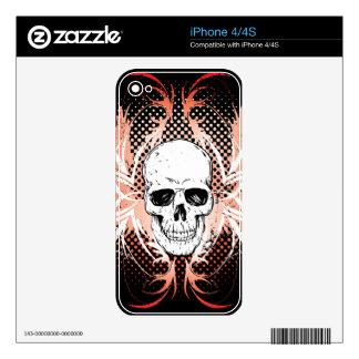 Piel del iPhone 4 del cráneo Skin Para El iPhone 4