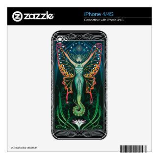 piel del iPhone 4 - metamorfosis de C. McAllister Calcomanías Para El iPhone 4S
