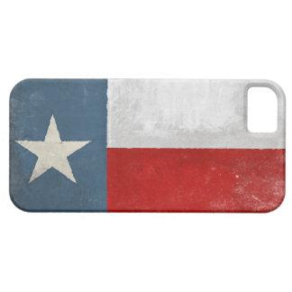 piel del iPhone 5 con la bandera apenada de Tejas  iPhone 5 Case-Mate Cobertura