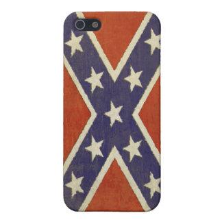 piel del iPhone con la bandera de batalla del vint iPhone 5 Coberturas