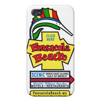 Piel del iPhone de la muestra de la playa de Pensa iPhone 4 Funda