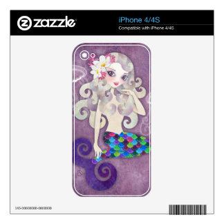 Piel del iPhone de la sirena de Amethyste iPhone 4S Calcomanía