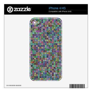 Piel del iPhone de los PUNTOS Y de los CUADRADOS Calcomanía Para El iPhone 4