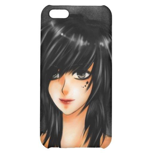 Piel del iPhone del chica de Emo