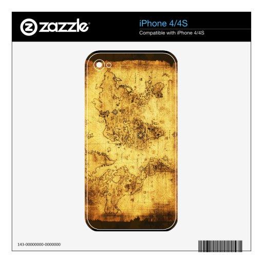 Piel del iPhone del mapa de Viejo Mundo iPhone 4S Skin