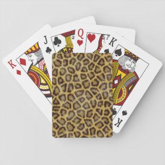 Piel del leopardo baraja de póquer