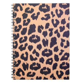 Piel del leopardo libreta espiral