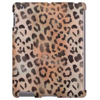 Piel del leopardo en albaricoque funda para iPad