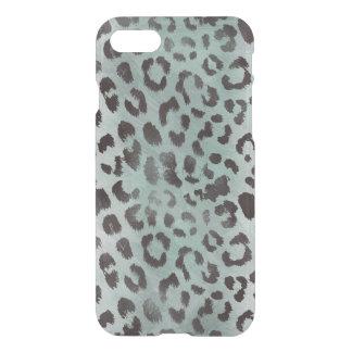 piel del leopardo en azul del jade funda para iPhone 7