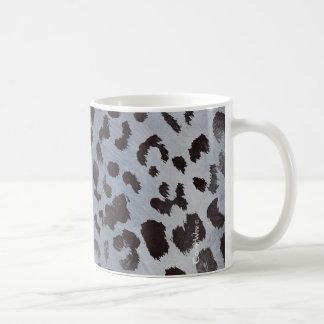 Piel del leopardo en pizarra azul taza