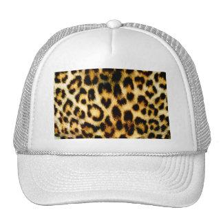 Piel del leopardo gorras de camionero
