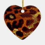 Piel del leopardo ornamentos de navidad