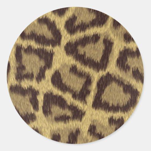 Piel del leopardo pegatina redonda