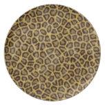Piel del leopardo platos