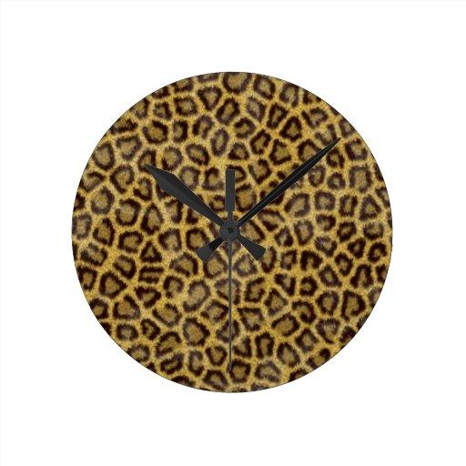 Piel del leopardo relojes de pared