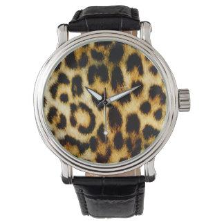 Piel del leopardo relojes de pulsera