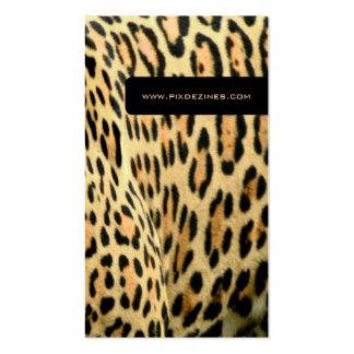 Piel del leopardo, tarjetas de visita animales de