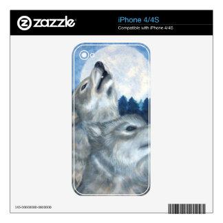 piel del lobo skins para iPhone 4