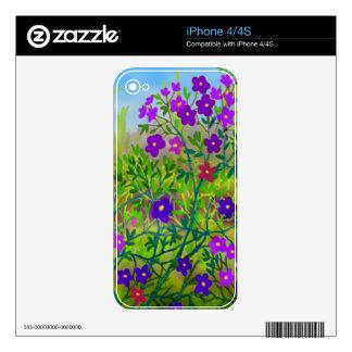 Piel del Mid West de Zazzle de los Wildflowers del iPhone 4 Skin