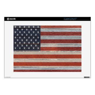 Piel del ordenador de la bandera americana skins para 38,1cm portátiles