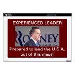 piel del ordenador de Romney de 17 pulgadas Calcomanías Para Portátiles