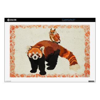 Piel del ordenador portátil de la panda roja y del calcomanía para portátil