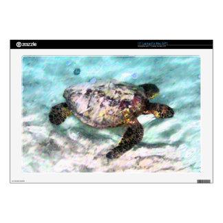 Piel del ordenador portátil de la tortuga de mar d skins para 43,2cm portátil