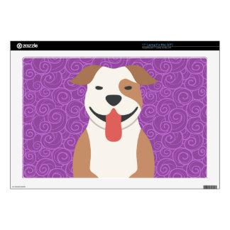 Piel del ordenador portátil de Terrier de pitbull Portátil Skins
