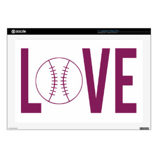 Piel del ordenador portátil del béisbol del amor skins para 43,2cm portátiles