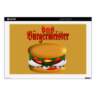 piel del ordenador portátil del das Burgermeister  Calcomanía Para 43,2cm Portátil